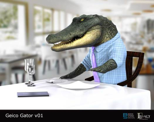 Geico Alligator Arms design