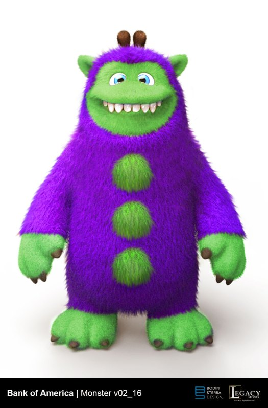 Bank of America Monster Toy
