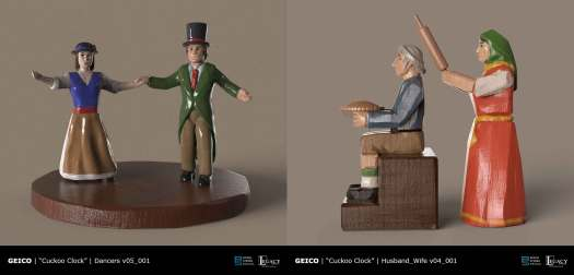 Geico- Take a Closer Look Cuckoo Clock Dancers, Pie Eater and Angry Wife