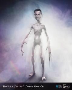 The Voice Season 11 Promo- Carson Daly alien