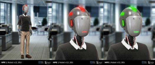 Hewlett Packard Enterprise Robot design
