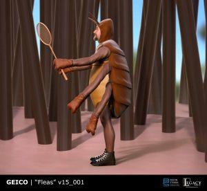 Geico- Fleas Playing Badminton final design