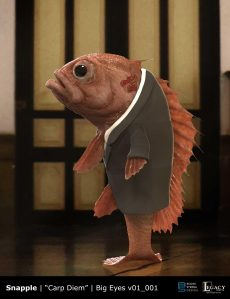 Snapple- Carp Diem fish design