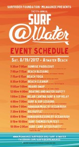 Surf @Water 2017 schedule