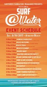 Surf @Water 2017 schedule