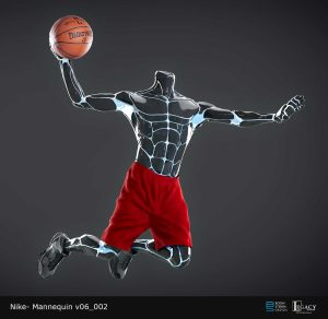 Nike basketball player mannequin designs