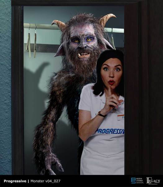 "Progressive Monster in ""The Closet"" commercial final design"