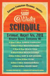 Surf @Water 2018 schedule