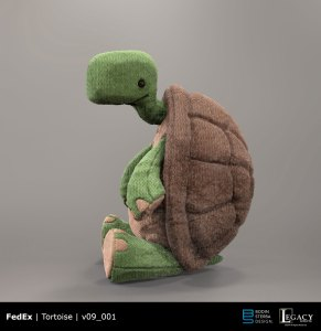 "FedEx ""Tortoise & the Hare"" prelim tortoise design"