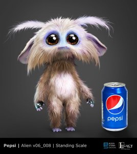 "Pepsi ""The Encounter"" alien design"