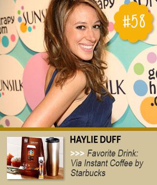 Haylie-Duff-loves-to-drink-Starbucks-Via-Instant-Coffee