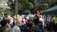 Crowds at Cake time with Iolo