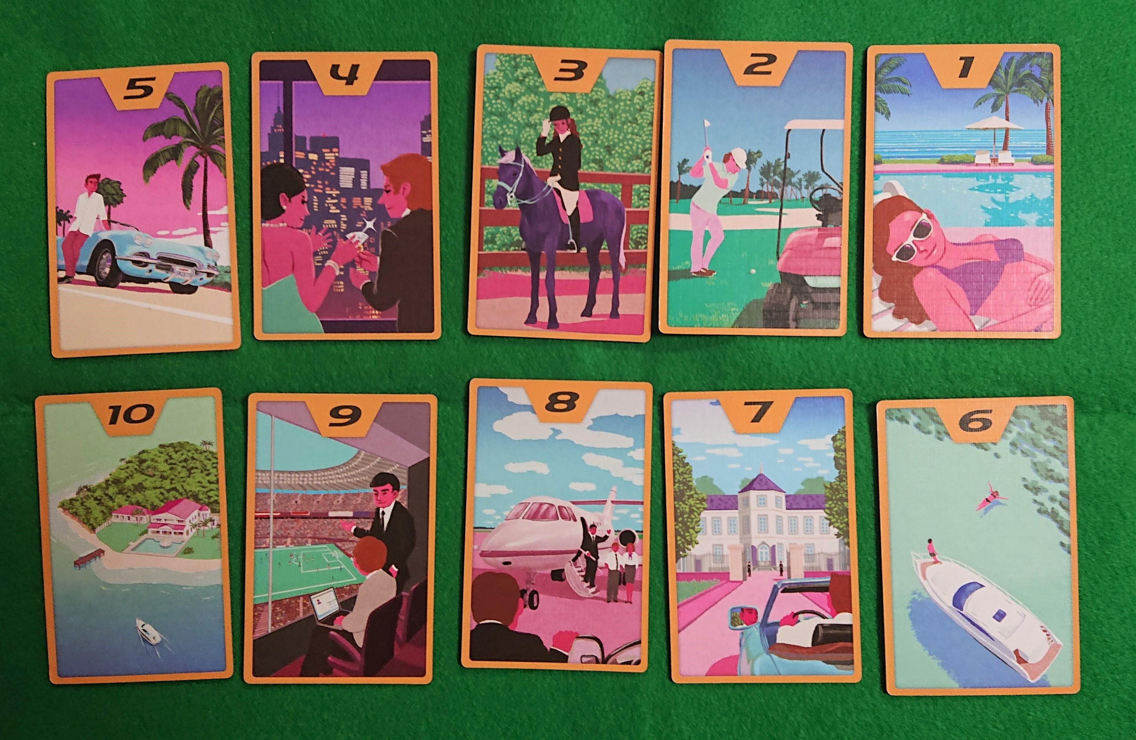 ハイソサエティ(HIGH SOCIETY) カードゲーム 何を買おうかな?