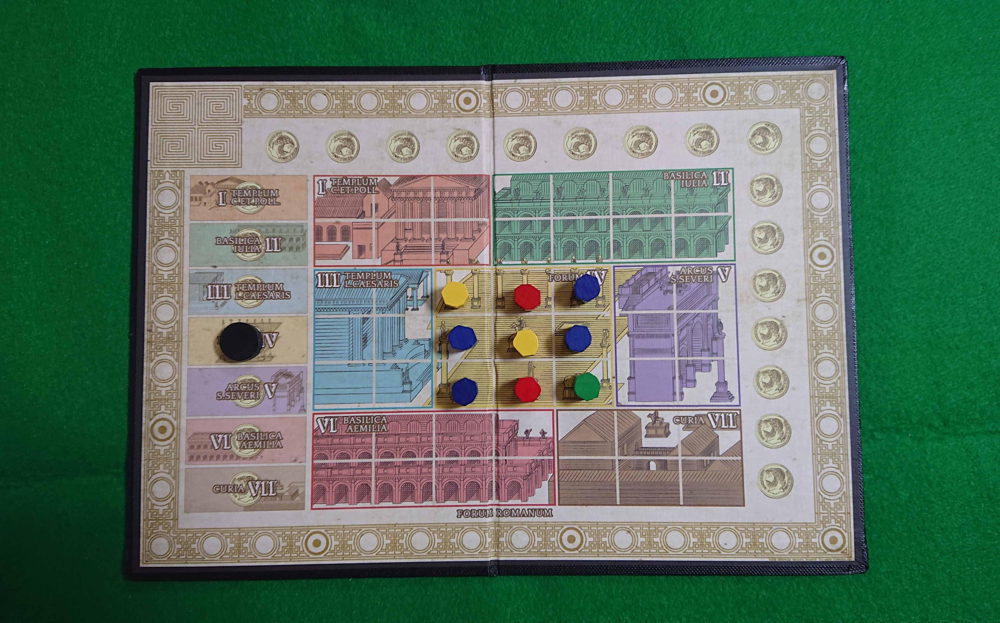 フォルム・ロマヌム 名作ボードゲーム 区画ごとに勢力を広めて支持を集めろ! ルール説明