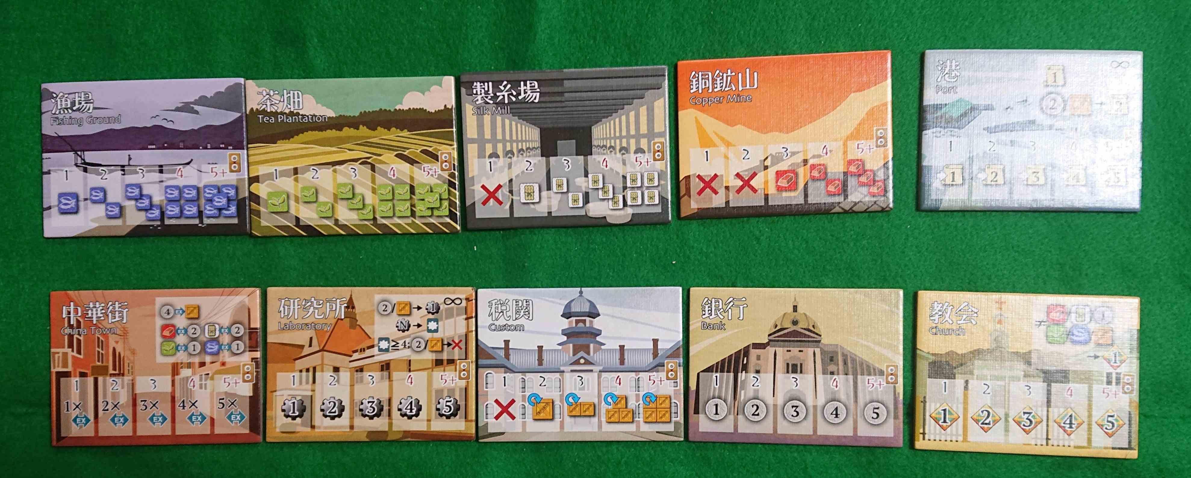 横浜紳商伝DUEL 評判の良い「横浜紳商伝」が2人専用になりました! ルール説明・感想 ボードゲーム