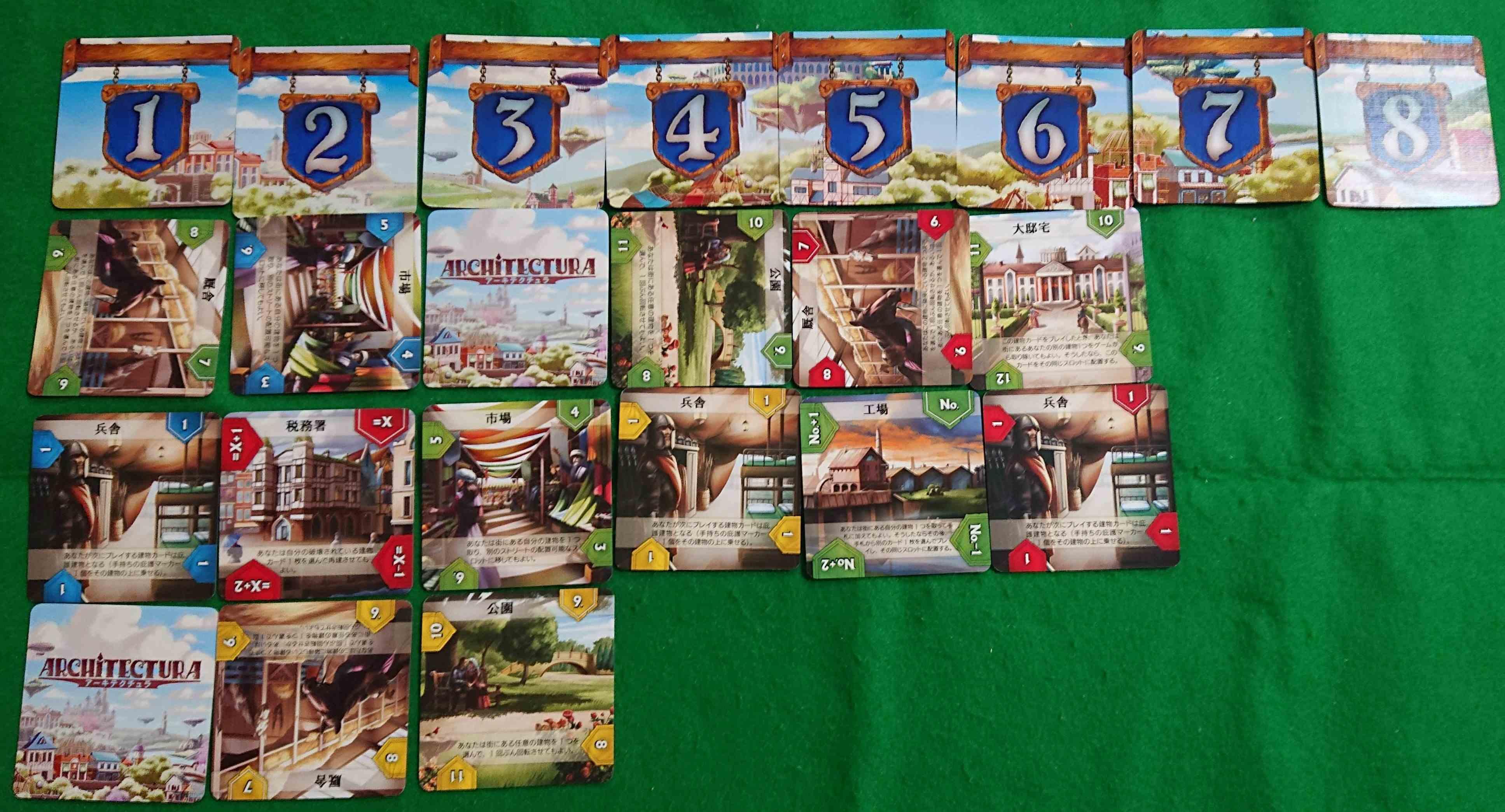 アーキテクチュラ 美しい都市を作りましょう! 建物の価値を競争しあうカードゲーム ボードゲーム