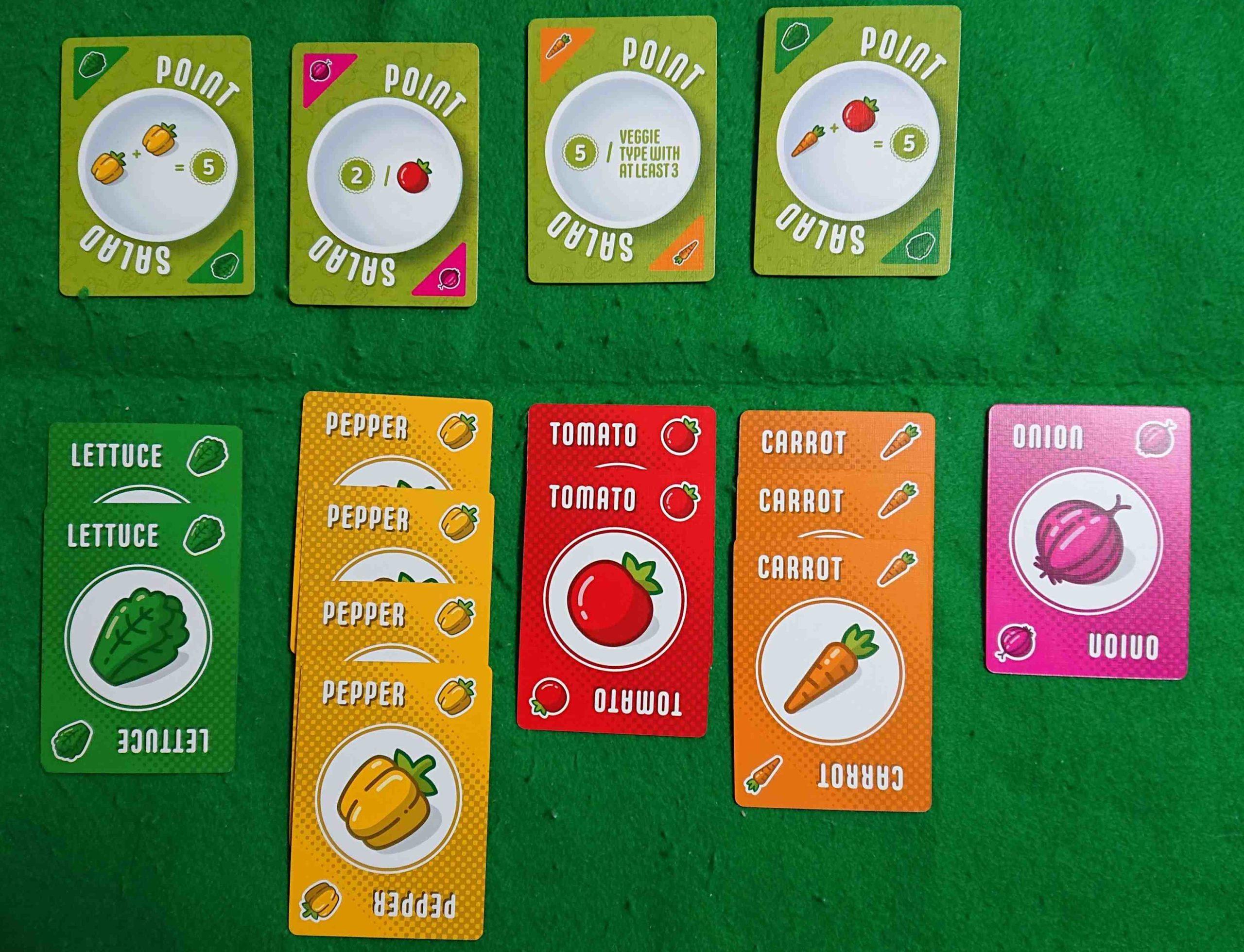 POINTSALAD(ポイントサラダ)ルール&レビュー みんなで美味しいサラダを食べましょう! セットコレクション系ボードゲーム
