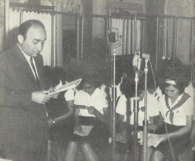 Открит урок по солфеж в Москва, 1964 г.