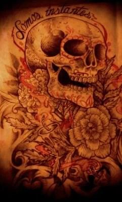 dessin-monkey-skull-calaveras-mexicain