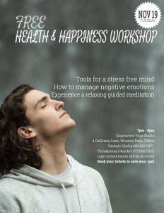 Free Health and Happiness Workshop @ Eaglesview Yoga Studio | Gillitts | KwaZulu-Natal | South Africa