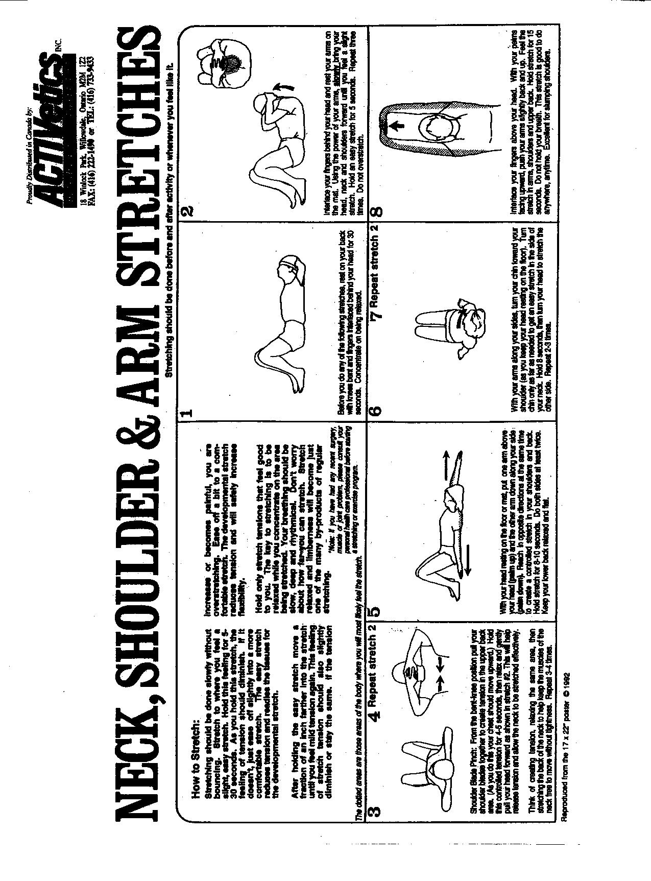 Exercises Pamphlets Body Amp Soul Chiropractic