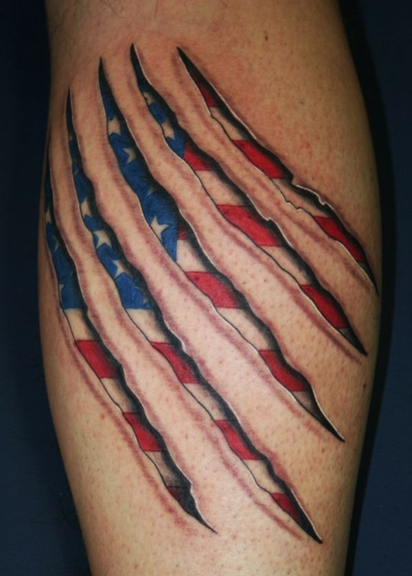 American flag tattoos