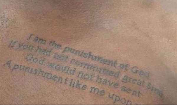 I am the punishment of God