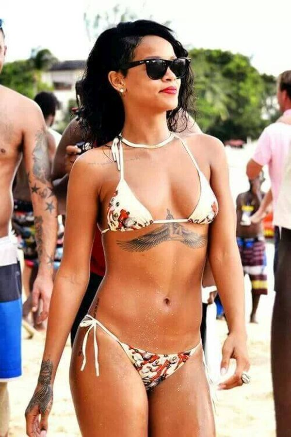 Rihanna's recent tattoo on her ribs of an Egyptian Goddess