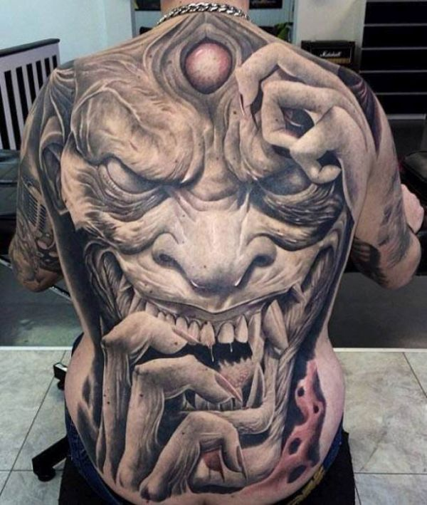 3d face tattoo