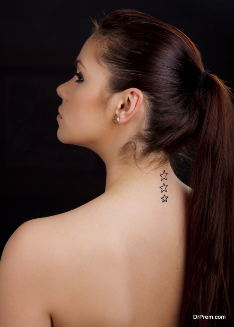 Starry Back Temporary Tattoo