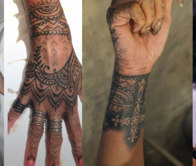 Rihanna Has A Tribal Inspired Tattoo On Her Hands Which She Updated While She Was In New Zealand
