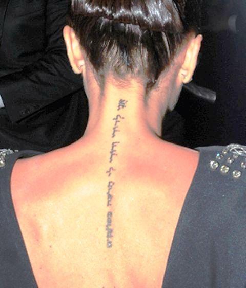 victoria beckham 5 tattoos &