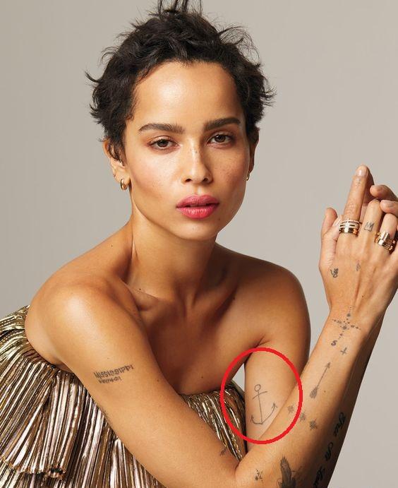 Zoey Tattoo : tattoo, Kravitz's, Tattoos, Their, Meanings