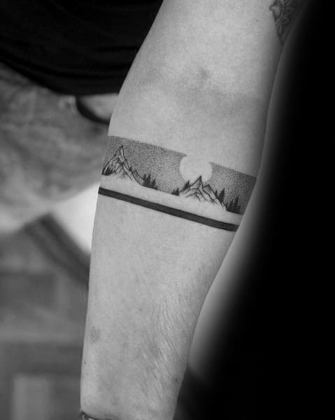 Mountain Armband Tattoo : mountain, armband, tattoo, Tattoo, Ideas, Mountain, Lovers