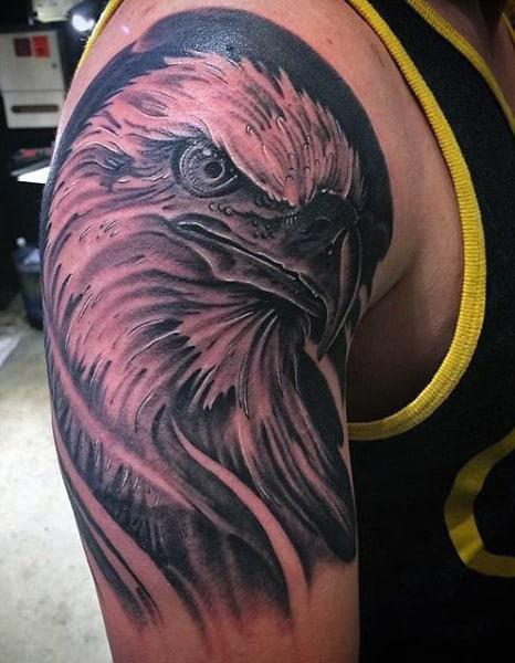 Eagle Tattoos On Shoulder : eagle, tattoos, shoulder, Eagle, Tattoos, Meanings, Ideas