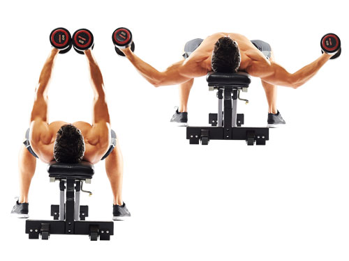 Flat Bench Dumbbell Flyes • Bodybuilding Wizard