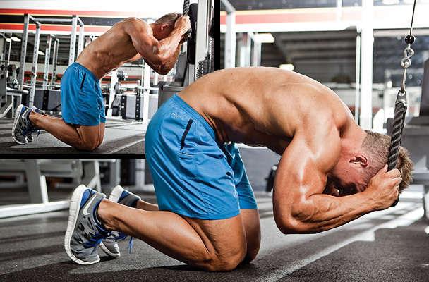 Kneeling Cable Crunch  Bodybuilding Wizard