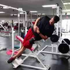 Gym Chest Chair Bistro Folding Table And Chairs Side Bends On A Hyperextension Bench Bodybuilding Wizard