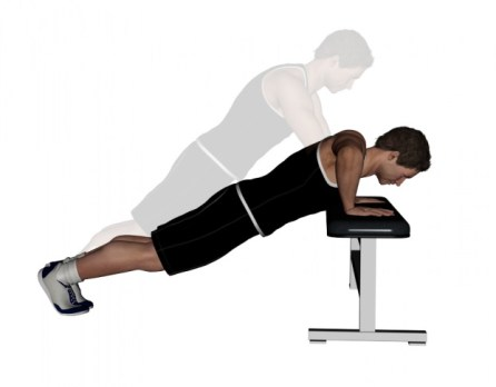 Image result for Incline push-ups exercises