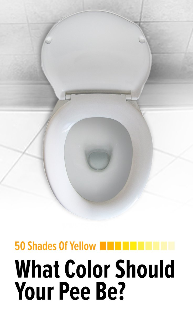 50 Shades Of Yellow What Color Should Your Pee Be?