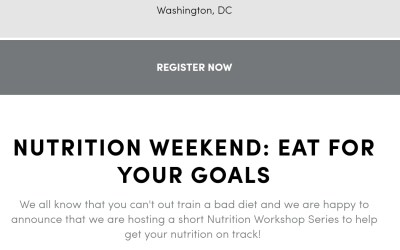 Eat For Your Goals: Nutrition Workshop