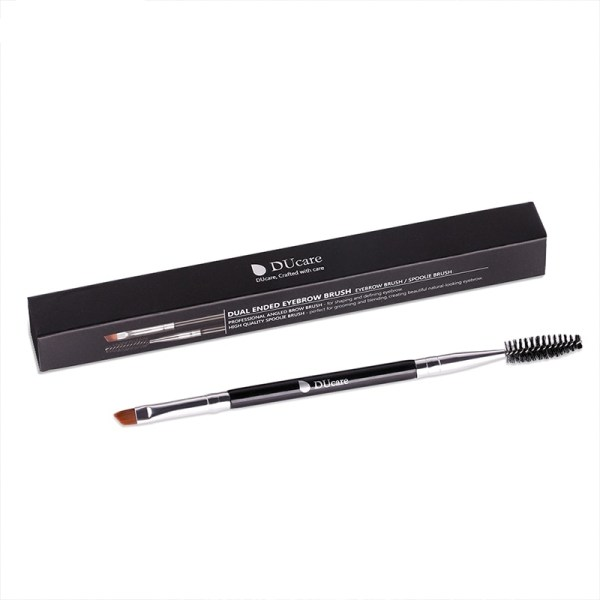Professional Double-Sided Synthetic Hair Eyebrow Brush