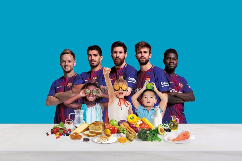 """Mit der Initiative """"Eat Like A Pro"""" möchten die Hausgerätemarke Beko und der FC Barcelona die gesunde Ernährung von Kindern fördern."""
