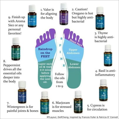 Raindrop therapy oil placement chart