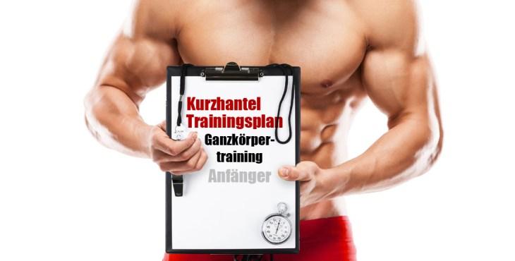 Kurzhantel Trainingsplan Ganzkörpertraining für Anfänger Titelbild