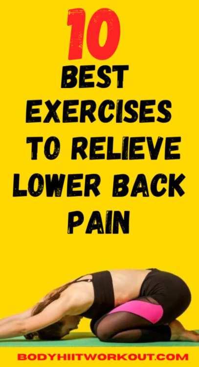 exercises for lower back pain