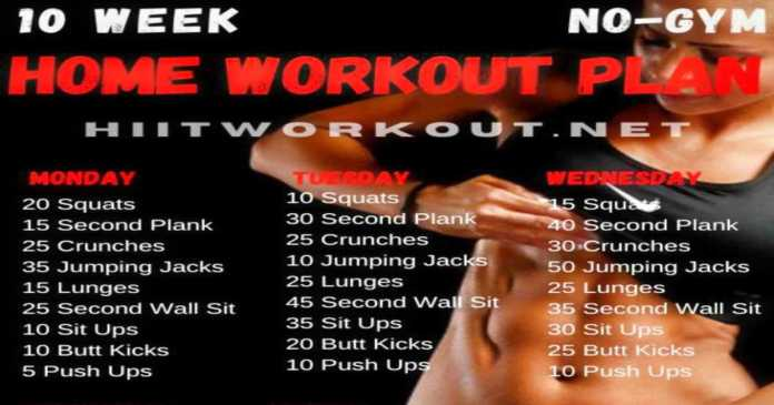 10 week workout plans for women at home