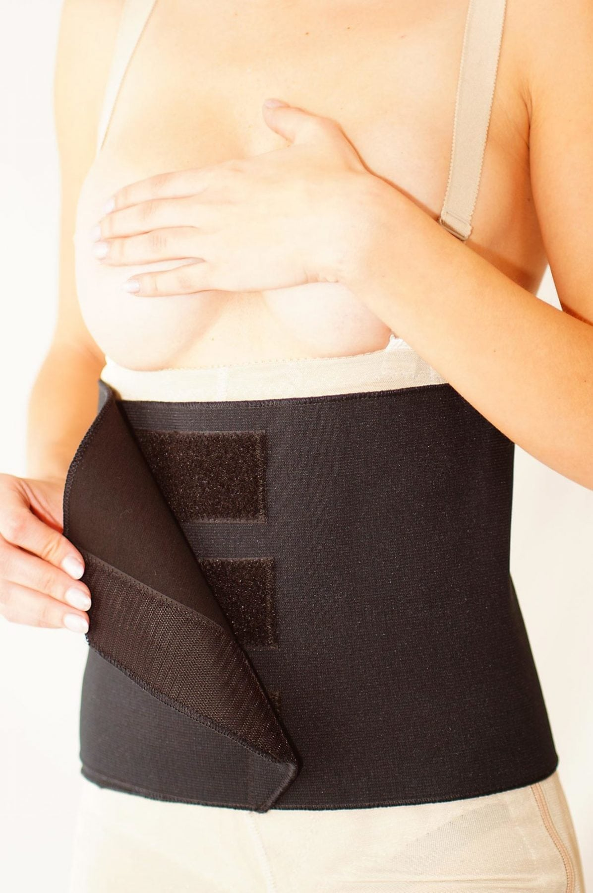 Feel the Support with our exclusive Black Abdominal Compression Binder.