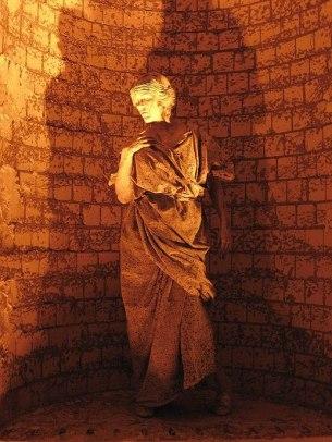 Bodypainting Steinstatue