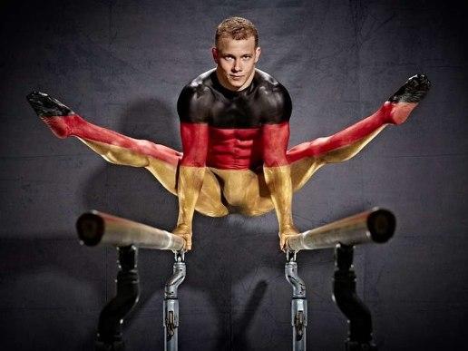 Bodypainting Fotoshooting mit Fabian Hambüchen
